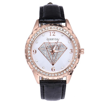 New Women Watches Sliver Hand-Painted Diamond Pattern Fashion Ladies  Quartz Wrist Watch reloj mujer relojes para mujer montres