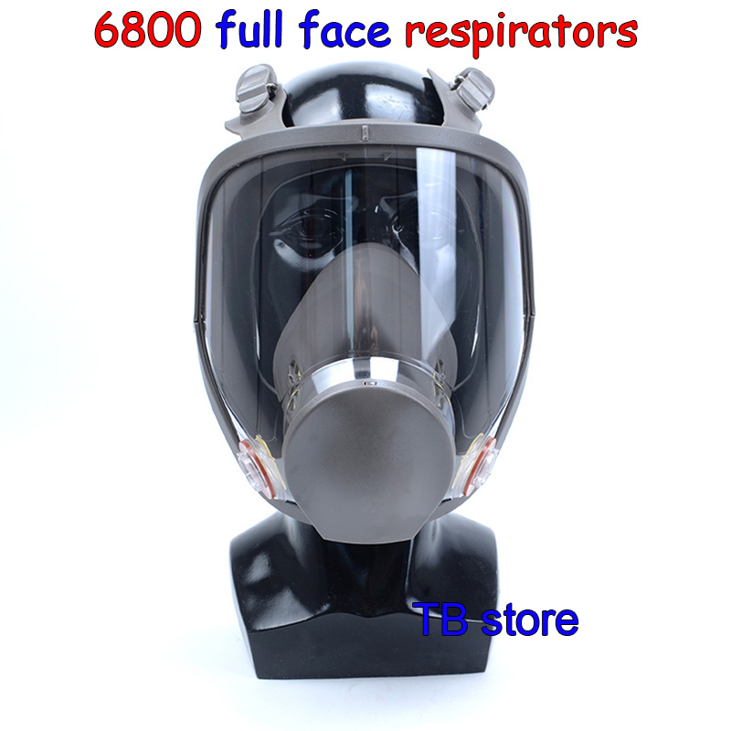 6800 Gas mask high quality Full face respirator Spray paint pesticide protective mask Can cooperate with 3M / SJL filter sjl respirator gas mask pesticide paint industrial safety protective mask 4pcs filter filter cotton replace the use gas mask