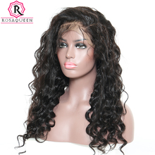 Loose Wave 360 Lace Frontal Wig Pre Plucked With Baby Hair Brazilian Black Human Hair Wigs For Women Rosa Queen Remy Front Wig