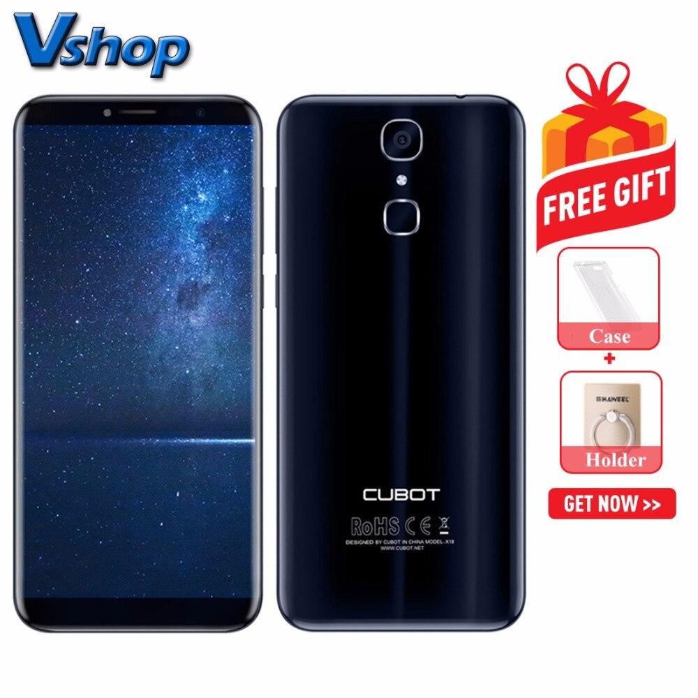 Original CUBOT X18 4G Mobile Phones Android 7 0 3GB 32GB Quad Core Smartphone 1440 x
