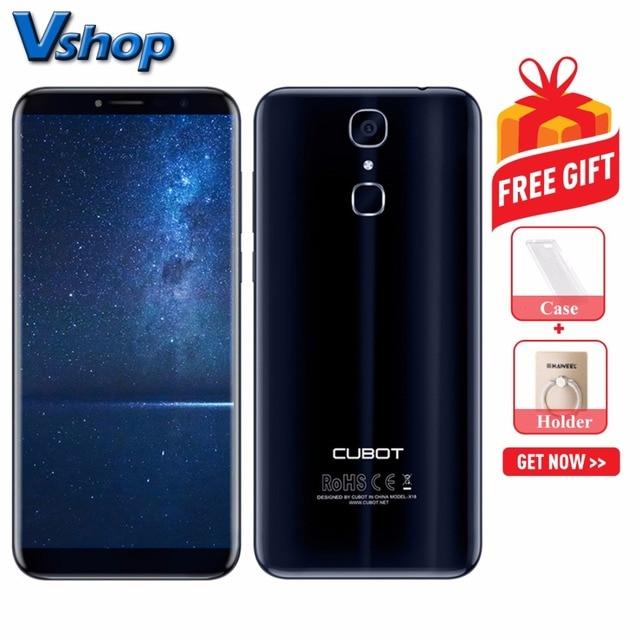 Оригинал CUBOT X18 4 г мобильные телефоны Android 7,0 3 ГБ + 32 ГБ четырехъядерный смартфон 1440x720 пикселей 5,7 дюймов Dual SIM сотовый телефон