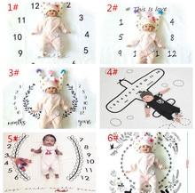 Фотография 100 * 100 cm printed newborn photography background blanket infant growth record carpet carpet letters