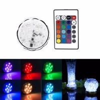 4pcs 10leds RGB LED Underwater Light IP67 Waterproof Swimming Pool Light LED Submersible For Party Piscina