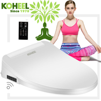 KOHEEL Smart Toilet Seat Washlet Elongated Electric Bidet Cover Intelligent Bidet Toilet Seats Heating Sits Led
