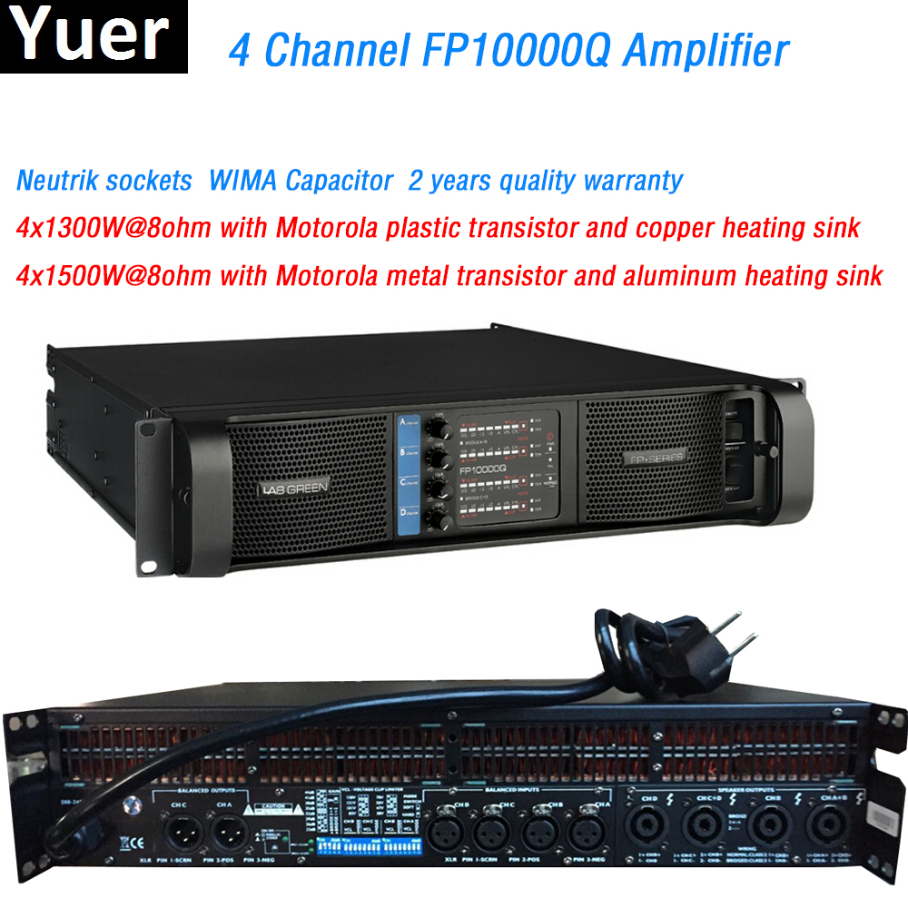 4 Channel FP10000Q line array amplifier NEUTRIK Connectors WIMA Capacitor line array professional Sound Power Amplifier Line
