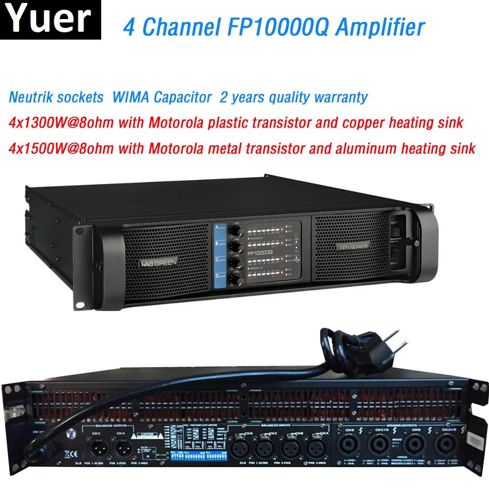 4 canaux FP10000Q ligne amplificateur réseau NEUTRIK connecteurs WIMA condensateur ligne tableau professionnel son amplificateur ligne