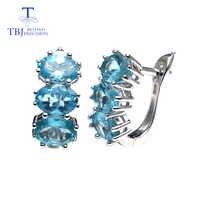 TBJ... apatito natural de piedras preciosas buena pendiente en plata de ley 925 de moda joyería fina para mujer San Valentín como regalo de compromiso caja