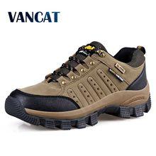 Vancat 2019 새로운 브랜드 봄 패션 야외 스 니 커 즈 방수 남자 신발 망 전투 사막 캐주얼 신발 플러스 크기 36 47