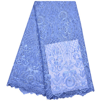 Nigeria Wedding Dress Lace Fabric High Class Fashion Embroidered Design African French Tulle Lace Fabric 5 Yards A1182