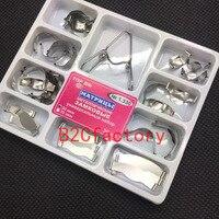 Dental Contoured Metal Matrices Matrix With Springclip NO. 1.330 /NO.1398 Dentist Tool