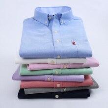 font b Oxford b font Silk Cloth Slim Male Short Sleeve Shirt Easy Care Casual