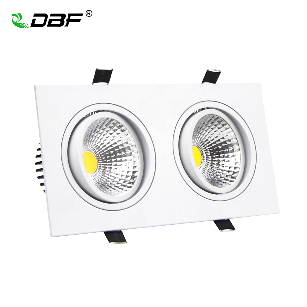 led ceiling downlight 14w 18w 24w 30w led cob downlight ac110v 220v square recessed dimmable led