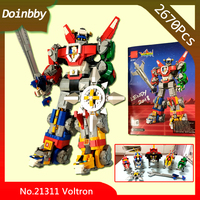 Robot toys 21311 Japanse Cartoon Beastmaster Voltroned Lion King Bouwsteen Beastmaste Bricks Speelgoed Compatibel with Legoings