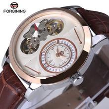 Forsiningメンズ腕時計トップブランドの高級2018トゥールビヨン時計男性自動腕時計スケルトン軍事腕時計機械式レロジオ
