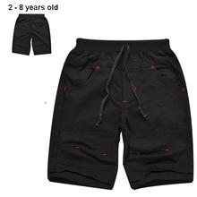 2-8 ans d'été bébé garçon short 100% coton garçons shorts occasionnels de haute qualité enfants shorts bermudas noir kaki enfants shorts