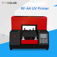 A4 UV Printer Impresora 3D Automatic Printing Machine with Printer Head DX5 Epson R330 for Phone Case, Floats,Acrylic 15*36cm
