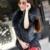 ENVÍO GRATIS 2016 Nuevas Mujeres de Primavera de Cuero Negro Chaleco de piel de Oveja Genuina Mapache Cuello de Piel Corto Delgado Moda Fit Capa de Las Mujeres