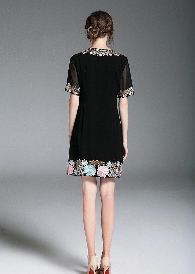 3xl Black De Grande Noir Impression Mode Soie Taille Plage Robe Doux kZiuPX