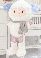 Hug Doll Sheep Plush Toy Doll Sheep Floral Doodle