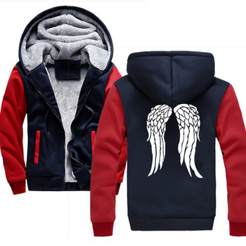 Hot Sweatshirt for men The Walking Dead 2018 winter fleece zipper hoodies fashion hip hop streetwear tracksuits men's jackets