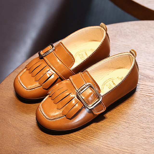 2017 Spring Kids Loafers Fringes Casual Shoes Toddlers Girls Casual Shoes Children's Flats School Shoes with Buckle