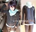 Cosplay Anime japonês Noragami Yato Cosplay Jacket Esporte Suit para As Mulheres/Homens (Topos + Calça + Cachecol)