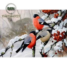 5D Diamond painting animal birds Diy paintings kits full drill round resin mosaic art diamond embroidery sale home Decor gifts full drill round 5d diy diamond painting birds resin crystal embroidery cross stitch animal diamond mosaic art home decor gifts