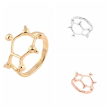Oly2u  Caffeine Molecule Ring Girl Chemistry Jewelry Science Jewelry Rings for Women Gifts