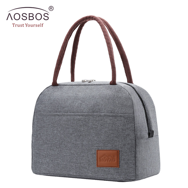 Aosbos Fashion Portable Cooler Lunch Bag Thermal Insulated Travel Food Tote Bags Food Picnic Lunch Box Bag For Men Women Kids