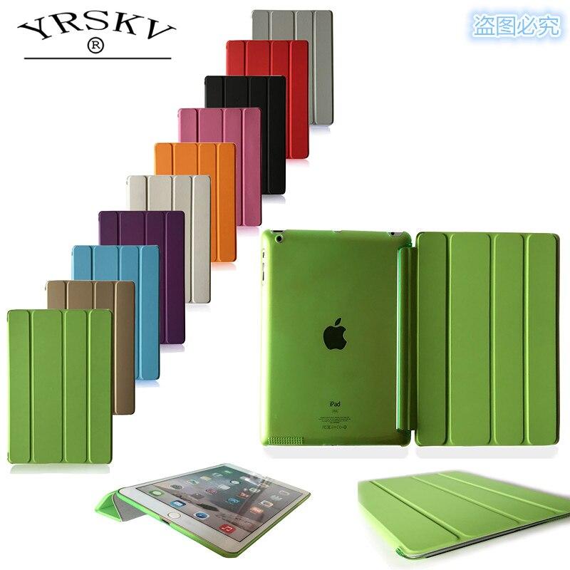Funda para iPad 2 iPad 3 iPad 4 YRSKV PC duro + cuero PU Smart Auto Sleep Wake funda Ultra delgada para iPad 2/3/4
