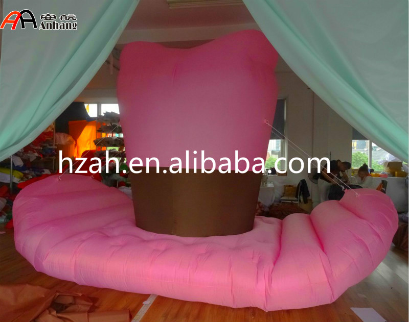 Inflatable Giant Pink Cowboy Hat for Advertising Decoration giant inflatable balloon for decoration and advertisements