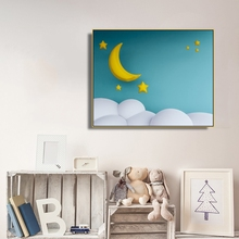 Night Cartoon Kids Wall Picture Poster & Print Star Moon Baby Room Canvas Painting Calligraphy Children Art Mural