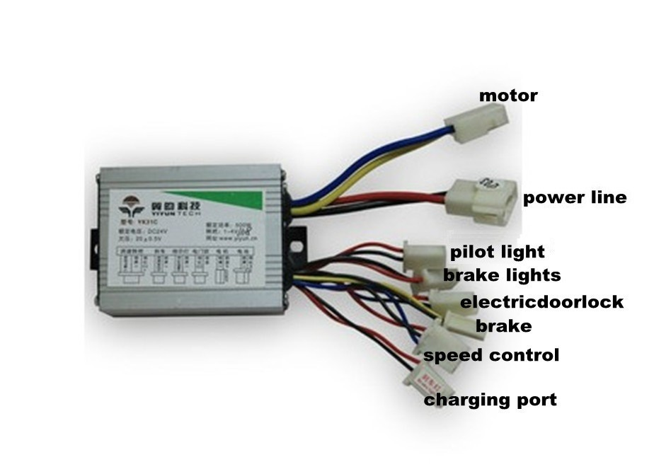 Free shipping 500w 36v dc brush motor controller e bike for 36v dc motor controller