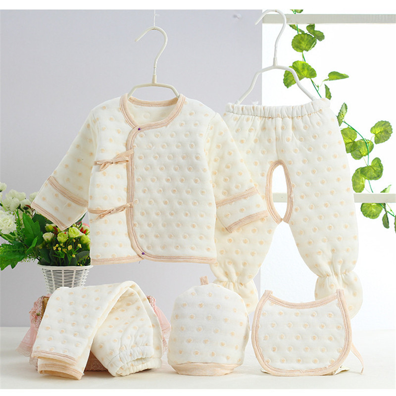 0-3M Newborn Newborn Baby Set 5pcs Set Cute Giraffe Infant Clothing Set 100% Cotton Brand Boy Girl baby clothing set SKB03 (2)