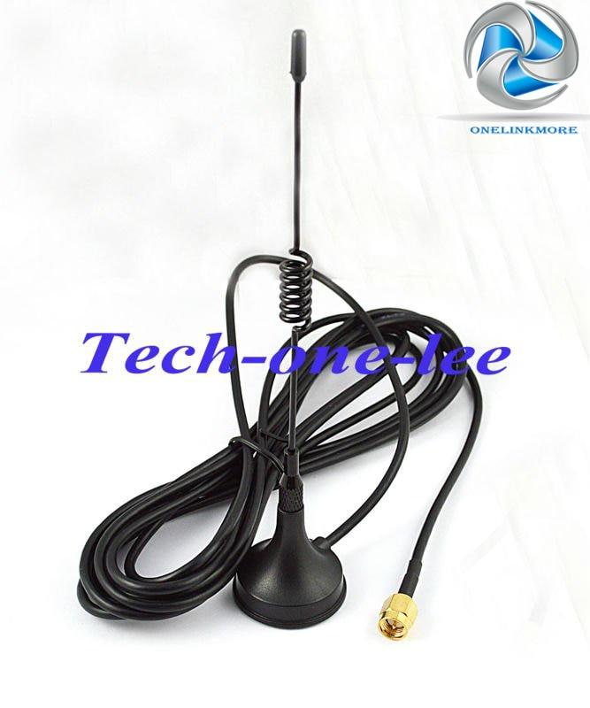 imágenes para 5 dbi 433 Mhz GSM Antena SMA Conector Macho Recto con la base Magnética para la Radio de Jamón amplificador de Señal Repetidor Inalámbrico