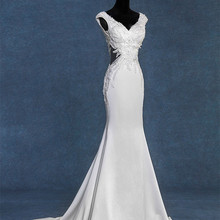 saf sid Real Photos Cap Sleeves Mermaid Wedding Dresses