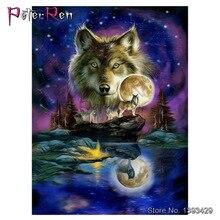 Diamond Painting Wolf Cross Stitch Animal 5d crystal Embroidery Full resin Rhinestones Needlework Arts Crafts Hobby Home