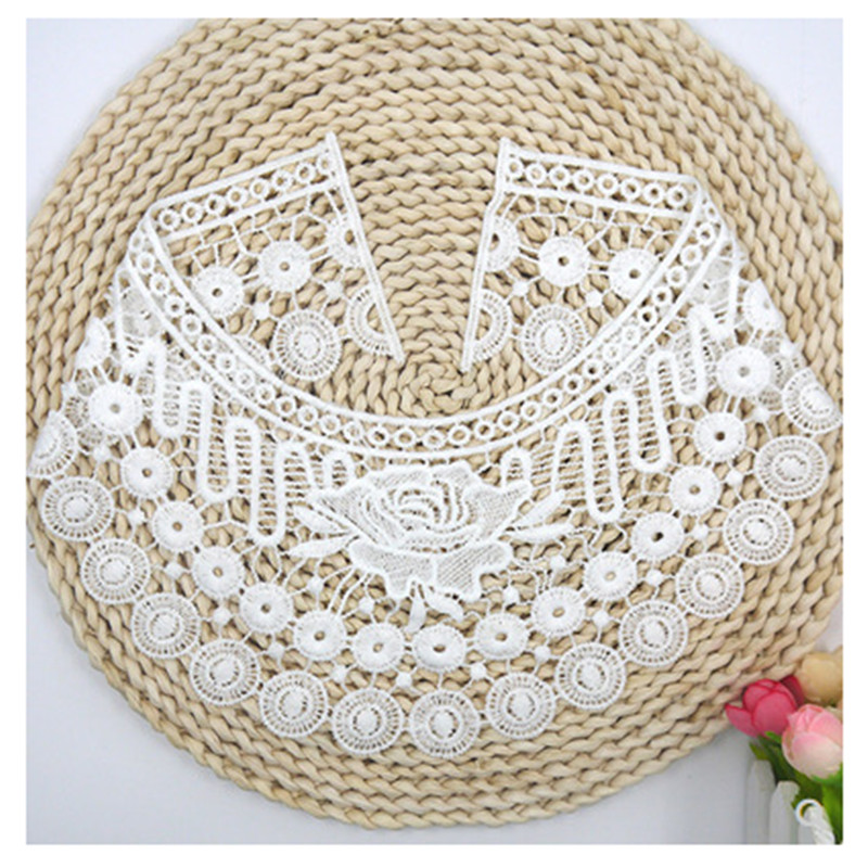 New arrival sewing on lace applique neckline exquisite decor handmade trim embroidered flower fabric accessories lace Collar in Lace from Home Garden