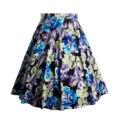 Retro rockabilly vintage falda de la impresión floral vestido de bola midi skater falda Del Verano de Cintura Alta Faldas 50 s Pin Up Faldas Para Mujer 1112