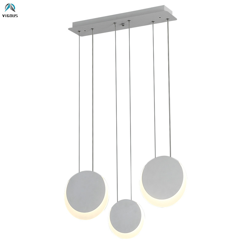 Dining Room Round Metal Acrylic Led Pendant Lights Modern Minimalism Deco Luminarias Led Hanging Lamparas Lustre Lamp FixturesDining Room Round Metal Acrylic Led Pendant Lights Modern Minimalism Deco Luminarias Led Hanging Lamparas Lustre Lamp Fixtures