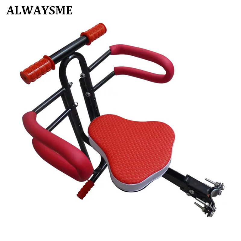 Alwaysme  Baby Children Kids Bicycle Safety Seats Bike Front Seat Chair Carrier Outdoor Sport  Protect Seat For Electric Bike