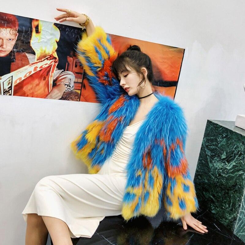 Manteau Couleur Réel Importer Court Fourrure Lvchi V De Renard Patchwork Manteaux Multi Hiver Naturel 2019 Femmes Contraste cou 6fUwWSqw1P