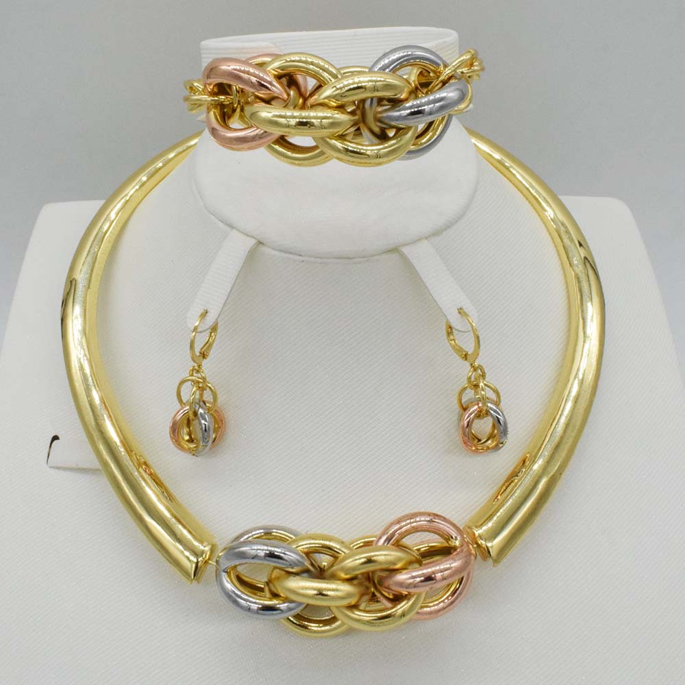 TOP quality african beads jewelry set dubai gold jewelry sets for women necklace earrings bracelet ring wedding jewelry