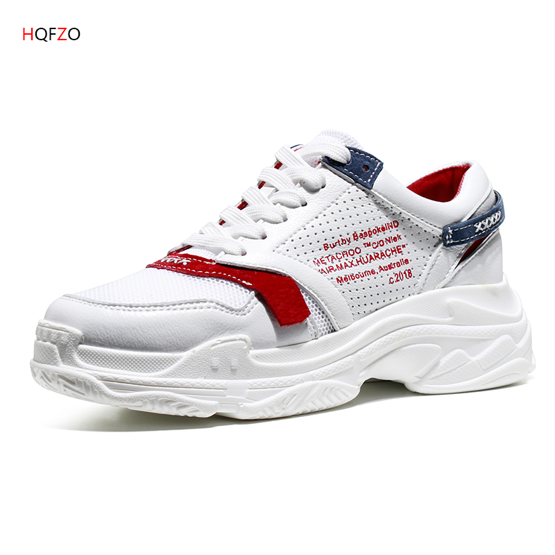 Hot Air Mesh PU Platform Sneakers Grils Wedges Breathable Casual Shoes Women Shoes Tenis Feminino Female Shoes Zapatos Mujer