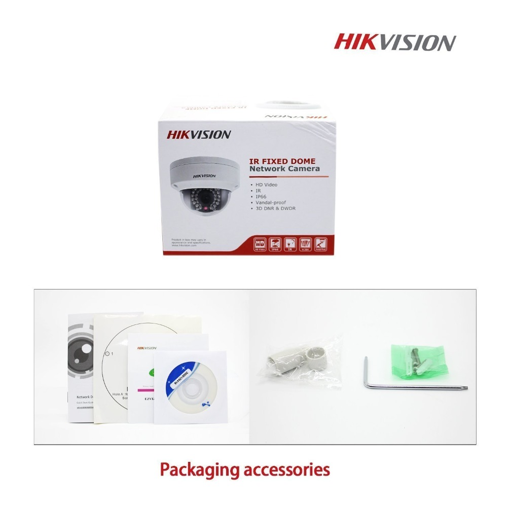 IP Security Camera Original Outdoor CCTV HIK English Version Updatable DS 2CD2132F I 2 8mm POE