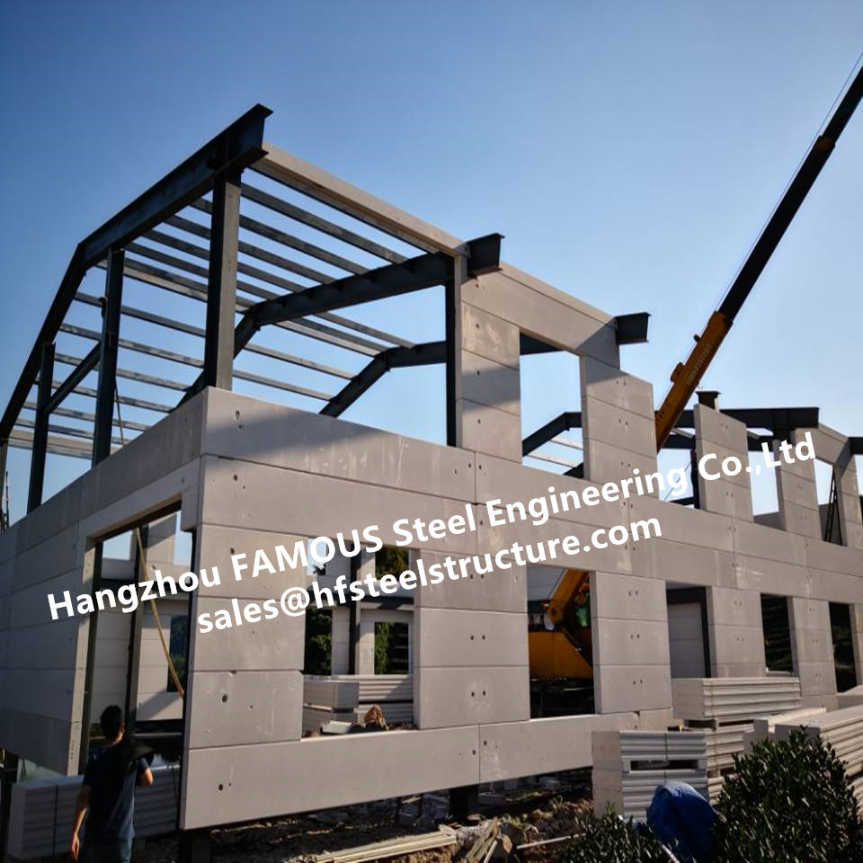 Low Cost Prefab House Light Steel Villa With Welded Frame And FASEC Prefab-I Panel For Sale