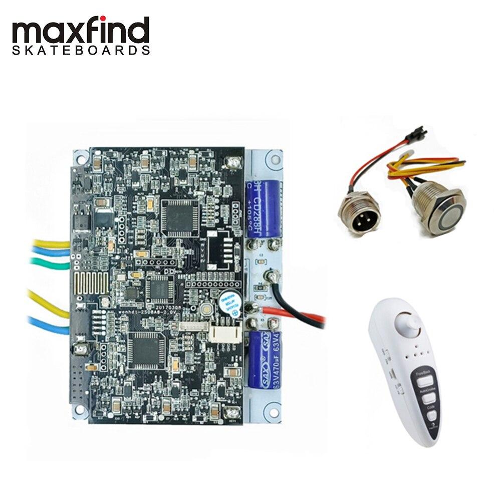 Maxfind Poweful 1000 W bricolage Unique et double moteur Lecteur Carte Mère avec Lecteur À Distance et bricolage kit de moteur pour Électrique Longboard