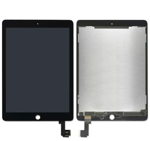Affichage d'écran en verre de numériseur d'écran tactile d'affichage à cristaux liquides pour le remplacement noir ou blanc A1566 A1567 d'ipad Air 2