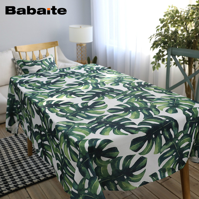 Babaite Hawaii Tropical Floral Dining Table Cloth Modern Chic Tablecloth  Decoration Beauty Table Cover Europe Style