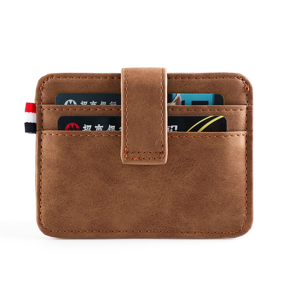 Fashion Men's Leather ID Credit Card Holder Wallet Coin Purse Business Slim Money Pocket Case Multi-card Position Card Holder
